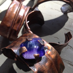 rustic cuffs with recycled glass